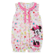 Disney Collection Sleeveless Minnie Romper - Baby Girls newborn-24m