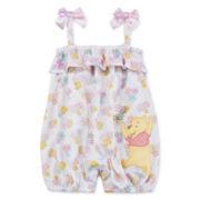 Disney® Pooh Cotton Romper - Baby Girls newborn-24m