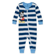 Disney® Mickey Mouse Stretchie Cotton Pajamas - Baby Boys newborn-24m