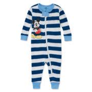Disney® Mickey Mouse Stretchie Cotton Pajamas - Baby Boys newborn-24m