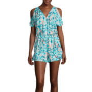 Decree® Cold-Shoulder Romper