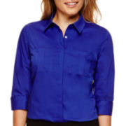 Worthington® 3/4-Sleeve Button-Down Top