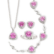 Lab-Created Trillion-Cut Pink Sapphire 4-pc. Jewelry Set
