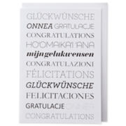MarthaCelebrations™ Congratulations Card – Multilingual