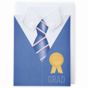 MarthaCelebrations™ Graduation Card – Shirt & Tie