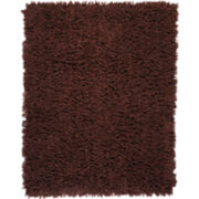 Coffee Bean Silky Shag Rectangular Rug