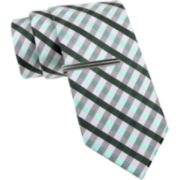 JF J. Ferrar® Gingham Tie and Tie Bar Set - Slim