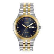 Citizen® Eco-Drive™ Men's Two-Tone Blue Dial Watch BM8404-59L