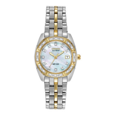 jcpenney.com | Citizen® Eco-Drive® Womens Diamond-Accent Watch EW1594-55D