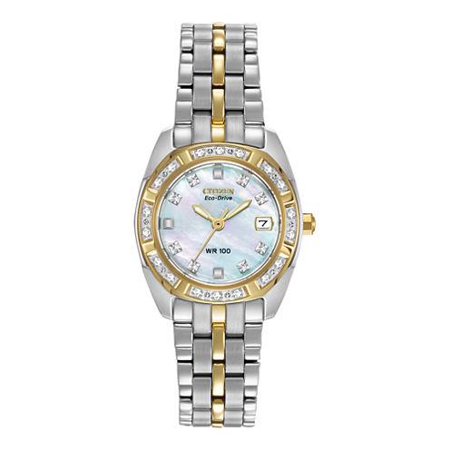 Citizen® Eco-Drive® Womens Diamond-Accent Watch EW1594-55D