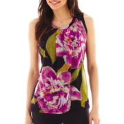 Worthington® Draped-Front Tank Top - Petite