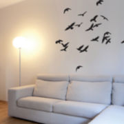 Birds In Flight Wall Decal - Black