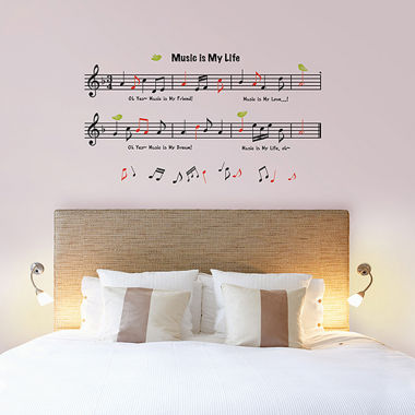 jcpenney.com | Art.com Music Measures/Music is My Life Wall Decal
