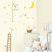 Art.com Bunnies Harvesting the Constellation Wall Decal