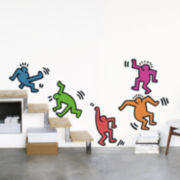 Five Dancing Figures Wall Decal