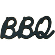 """BBQ"" Wood Sign Wall Decor"