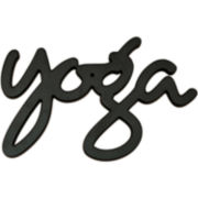 """Yoga"" Wood Sign Wall Decor"
