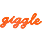 """Giggle"" Wood Sign Wall Decor"