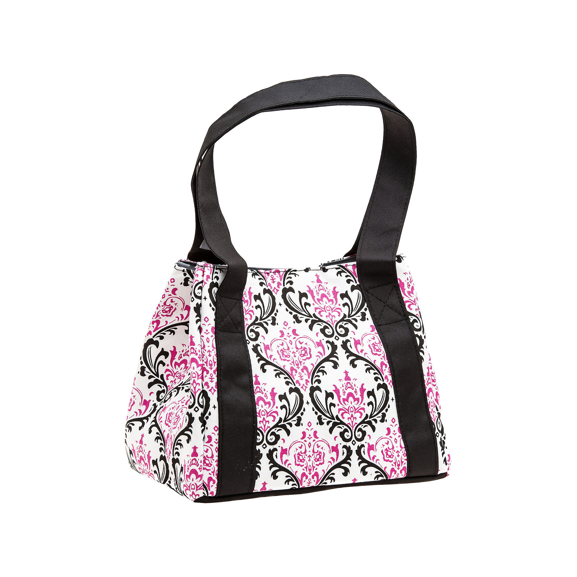 Fit & Fresh Pink Damask Venice Lunch Bag with Ice Pack
