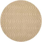 Martha Stewart Rugs™ Chevron Leaves Round Rug