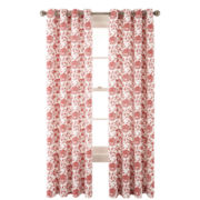 JCPenney Home™ Flora Grommet-Top Cotton Curtain Panel