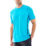 Reebok® Short-Sleeve Colorblock Tech Tee