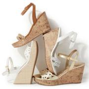 Unisa® Kylia Double-Strap Cord Wedge Sandals