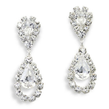 jcpenney.com | Vieste® Rhinestone Drop Earrings