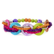 Aris by Treska Multicolor Bead and Shell Stretch Bracelet