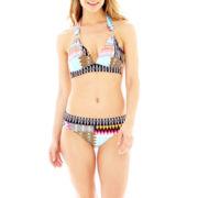 Liz Claiborne® Tribal Print Halter Swim Top or Hipster Bottoms