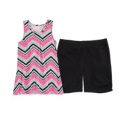 Total Girl® Striped Tunic or Bike Shorts – Girls 7-16 and Plus