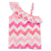 Arizona Ruffle Shoulder Tank Top - Toddler Girls 2t-5t