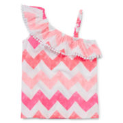 Arizona Ruffle Shoulder Tank Top - Preschool Girls 4-6x