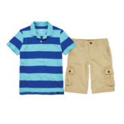 Arizona Striped Polo or Cargo Shorts - Boys 8-20
