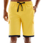U.S. Polo Assn.® Striped-Leg Cargo Swim Trunks