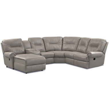 jcpenney.com | Brinkley 5-pc. Leather Reclining Chaise Motion Sectional