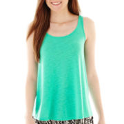 Decree® Crochet-Back Tank Top