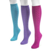 MUK LUKS® 3-pk. Microfiber Knee High Socks
