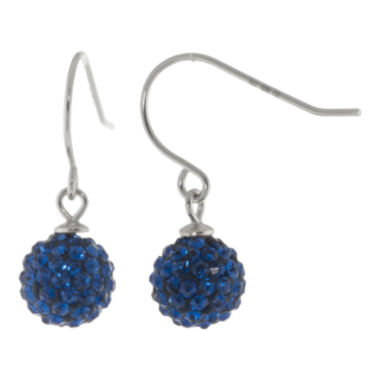 jcpenney.com | Sterling Silver Dangling Royal Blue Disco Ball Earrings