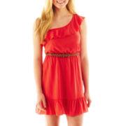 Trixxi® One-Shoulder Ruffled Dress