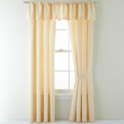 jcp EVERYDAY™ Summer Stroll Marigold Curtain Panel Pair
