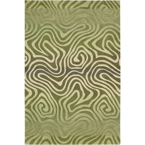 Nourison® Fun Maze High-Low Carved Rectangular Rug