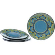 Mexican Tile Set of 6 Melamine Dinner Plates