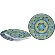 Mexican Tile Set of 6 Melamine Salad Plates