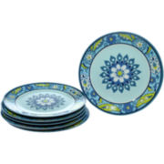Capri Set of 6 Melamine Dinner Plates