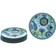 Capri Set of 6 Melamine Salad Plates
