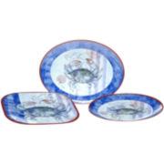Crab 3-pc. Melamine Serving Set