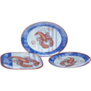 Lobster 3-pc. Melamine Serving Set