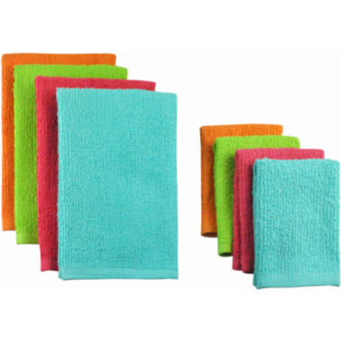 jcpenney.com | Set of 8 Terry Bright Dish Towels and Dish Cloths