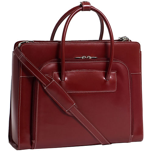 """McKleinUSA Lake Forest 15.4"""" Leather Laptop Briefcase w/ Removable Sleeve"""